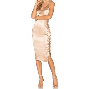 Misha Collection- Tarin Slip Dress (Metallic Gold)
